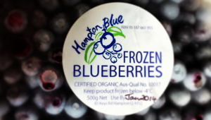 frozen organic blueberries