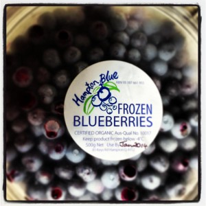 Frozen Certified Organic Blueberries for sale – 500g punnets